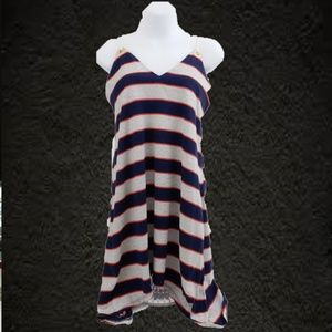 Sperry dress Blue white red stripes